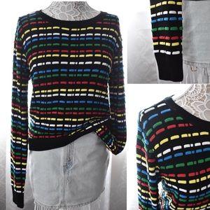 NWOT NastyGal/Endless Rose black rainbow Sweater